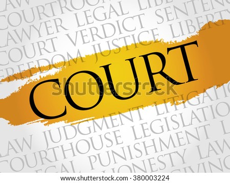 Court word cloud concept - stock photo