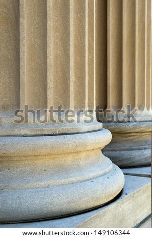Courthouse Columns - stock photo