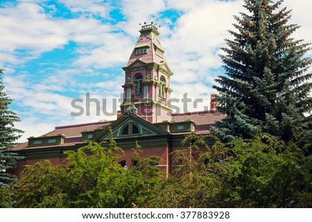 Courthouse in Aspen, Pitkin County, Colorado, - stock photo