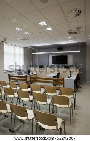 courthouse interior - stock photo
