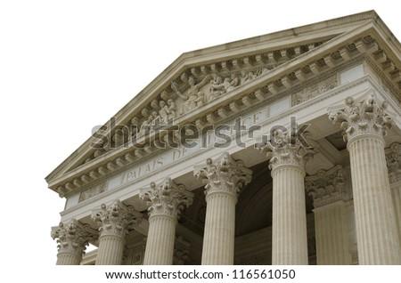 courthouse isolated on white - stock photo