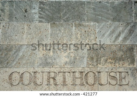 courthouse sign, Charlotte, North Carolina