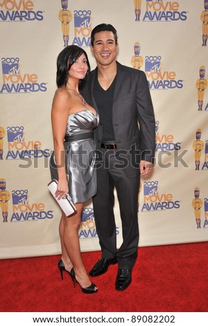 Courtney Laine Mazza & Mario Lopez at the 2009 MTV Movie Awards at Universal Studios Hollywood. May 31, 2009  Los Angeles, CA Picture: Paul Smith / Featureflash - stock photo