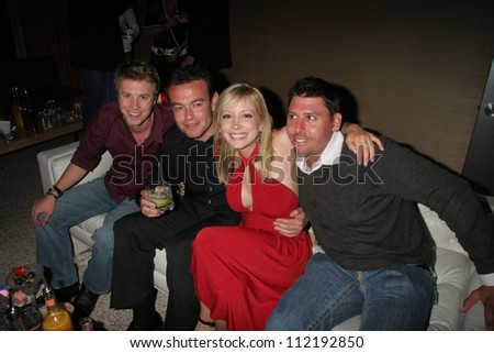 Courtney Peldon and friends at Courtney and Ashley Peldon's birthday party, Area, West Hollywood, CA 03-31-07