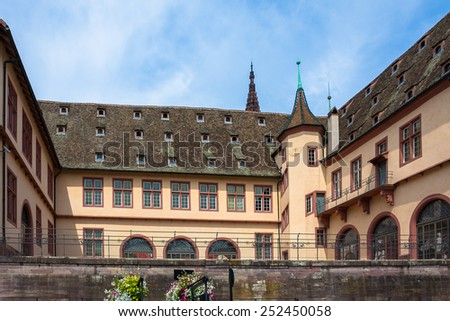 Courtyard of the Historical Museum of Strasbourg (Musee historique de Strasbourg), Alsace, France - stock photo