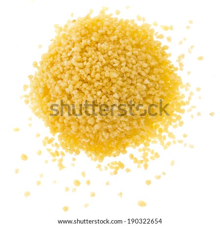 couscous close up isolated on white background
