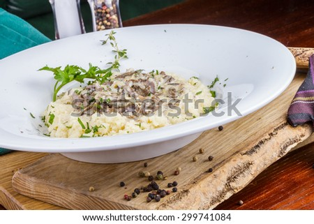 Couscous with beef heart - stock photo