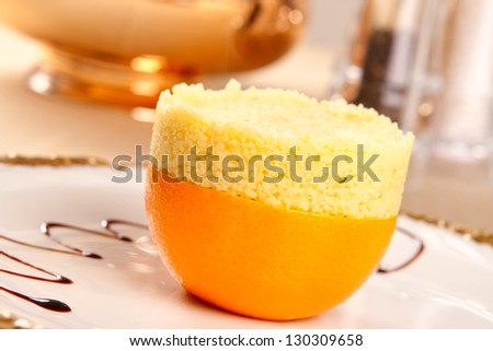 Couscous with orange