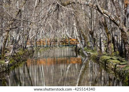 Covao d'ametade in the Serra da Estrela Natural Park. Portugal - stock photo