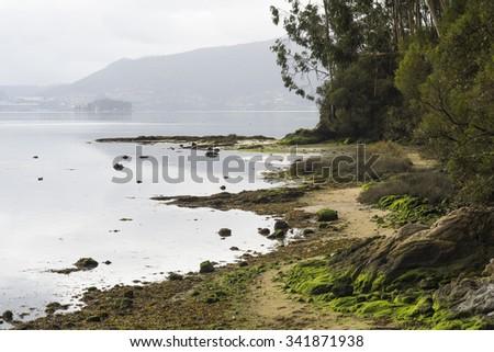 Cove in Rias Baixas (Spain) - stock photo