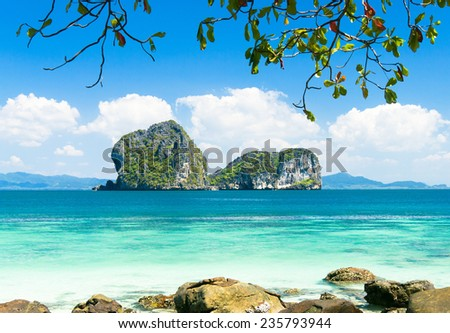 Cove View Cozy Landscape  - stock photo