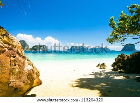 Cove View Heaven On Earth - stock photo