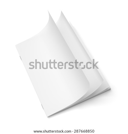 Cover empty magazine blank isolated on white background - stock photo