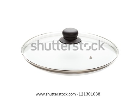cover for the pan,  isolated on white - stock photo