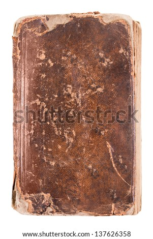Cover of an old book isolated on a white background - stock photo