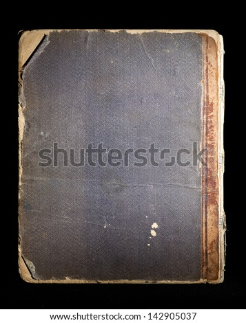 Cover of the old book on black background