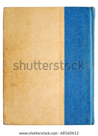 Cover of vintage book isolated on white background - stock photo