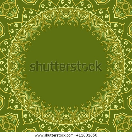 Cover. Pattern from ornamental elements. Can be used for wallpaper, pattern fills, web page background,surface textures. - stock photo