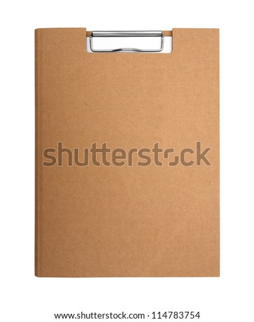Cover recycle paper clipboard - stock photo