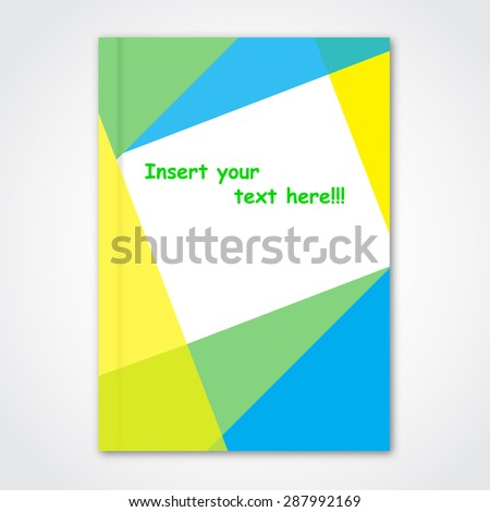 cover magazine pamphlet paper illustration stock illustration