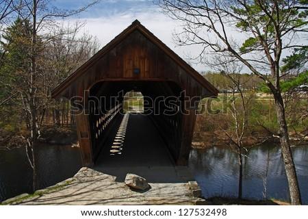 Covered bridge in New Hampshire - stock photo