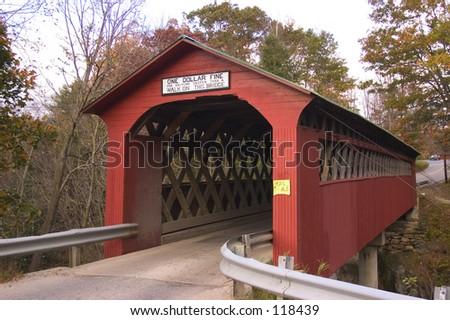 Covered bridge, Vermont - stock photo
