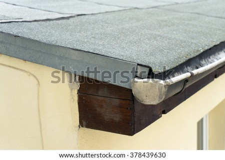 Awesome Covered Flat Roof With Roofing Felt / Roof