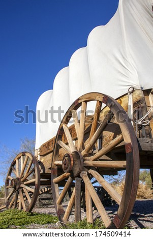 Covered wagon in USA