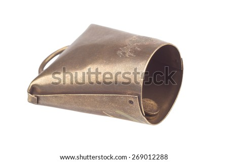 Cow bell isolated on white background - stock photo