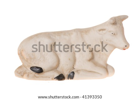 cow isolated on the white background - stock photo