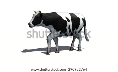 cow - separated on white background