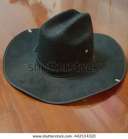 cowboy black hat - stock photo
