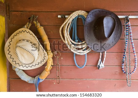 Cowboy  equipment - stock photo