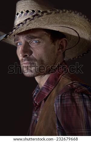 Cowboy Glare - stock photo