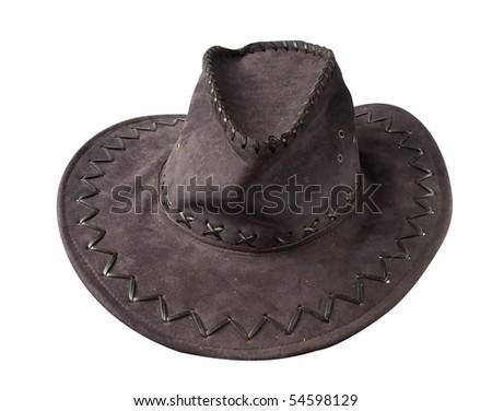 cowboy hat isolated - stock photo