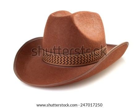 cowboy hat isolated on white background - stock photo