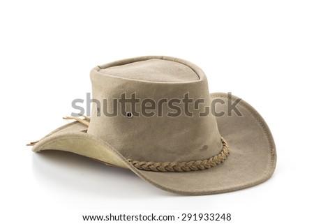 cowboy hat on white background - stock photo