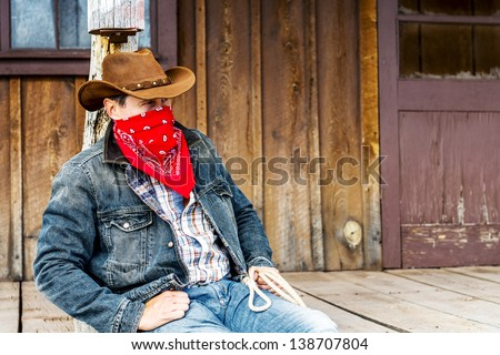 cowboy in southwest of america - stock photo