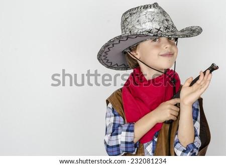 cowboy takes time - stock photo