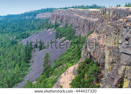 Coyote Wall in Washington in the Columbia River Gorge - stock photo