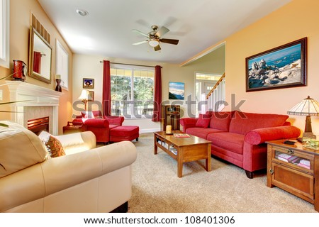 peach living room cozy classic beautiful living stock photo 10219