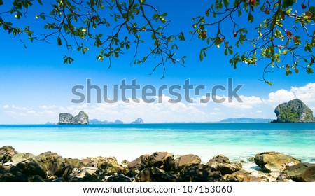 Cozy Landscape Green Fantasy - stock photo
