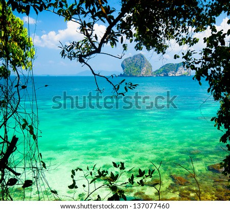 Cozy Landscape Serenity Shore - stock photo