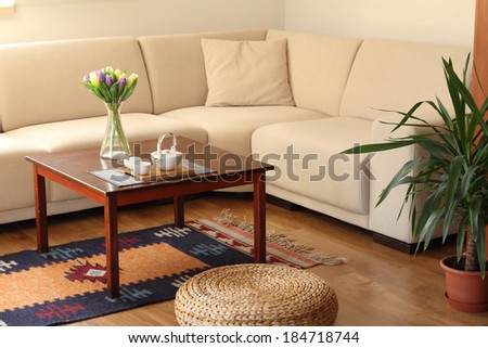 cozy living room - stock photo