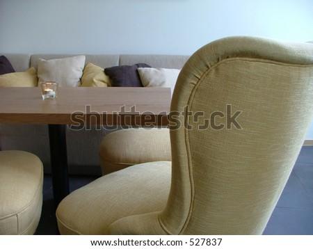 cozy lounge interior - stock photo