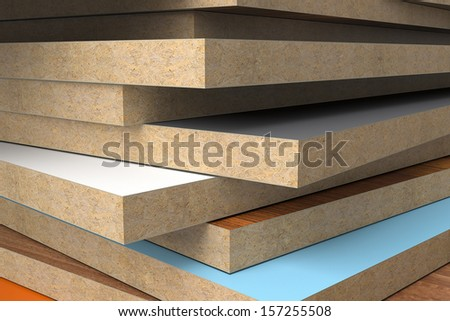 CPD without PVC edge. - stock photo