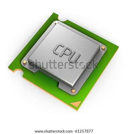 CPU - stock photo