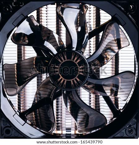 cpu fan - stock photo