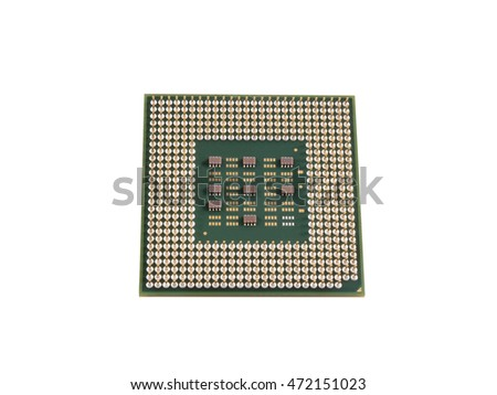 CPU on isolated white background.