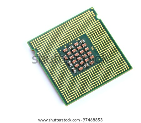 CPU over white background